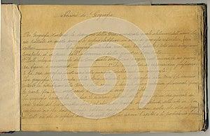 原始葡萄酒笔记本页 免版税库存图片 - 图片: 26786969