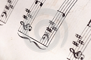 Old Music Notes Royalty Free Stock Images - Image: 26795719