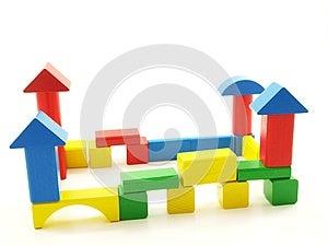 Wooden Brick Castle Royalty Free Stock Image - Image: 26797256
