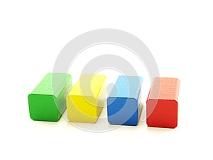 Rectangular Wooden Shaped Pieces Royalty Free Stock Photos - Image: 26797258