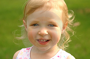 Little Blonde Girl Outside Royalty Free Stock Photo - Image: 2687585