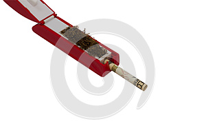 Cigarette Filling Machine Stuffing Ten Dollar Bill Royalty Free Stock Photography - Image: 26814097