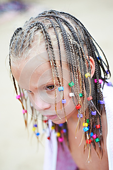 Portrait Of A Girl With Pigtails Stock Photo - Image: 26824870