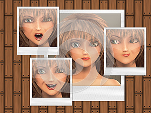 Multiple Faces On Photo Cards Royalty Free Stock Image - Image: 26825616