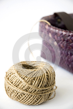 Hemp Rope With Basket Royalty Free Stock Photos - Image: 26826848