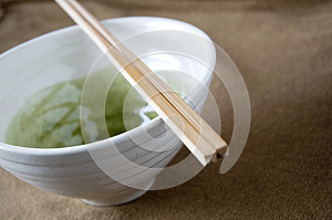 Close Up Chopstick On Bowl Royalty Free Stock Image - Image: 26835556