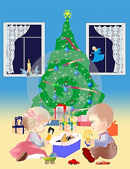 Under The Christmas Tree Royalty Free Stock Images - Image: 26838139