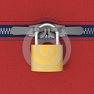 Zip Locked By Padlock Stock Photos - Image: 26841033