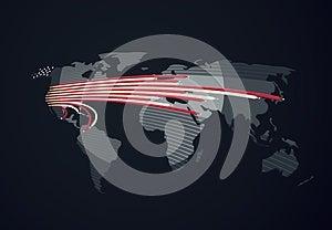 Communication United States In The World Stock Photo - Image: 26841800