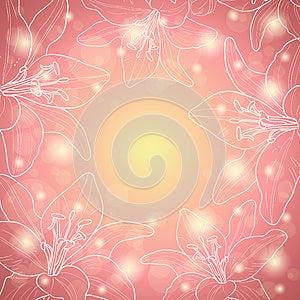 Pink Floral Border Royalty Free Stock Photos - Image: 26843068