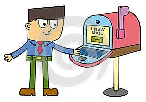 I'm Checking My Inbox Royalty Free Stock Photo - Image: 26851915