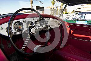 Vintage Car Detail Interior Stock Images - Image: 26858944