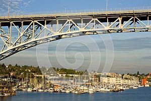 Bridge Over Lake Union Royalty Free Stock Image - Image: 26862916