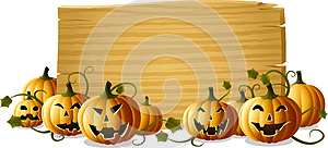 Jack-o-lantern With Sign Royalty Free Stock Photography - Image: 26890717