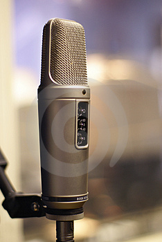 Professional Mic In Backlight Royalty Free Stock Photos - Image: 2694968