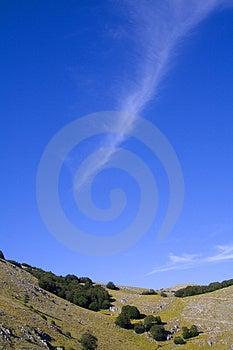 Isolated Cloud Wake Royalty Free Stock Photo - Image: 2699565