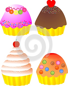 Yummy Cup Cakes Stock Image - Image: 26903971