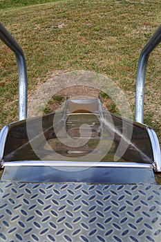 Metal Playground Slide Royalty Free Stock Images - Image: 26904739