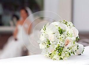 Ramalhete Branco Do Casamento Fotografia de Stock - Imagem: 26914132