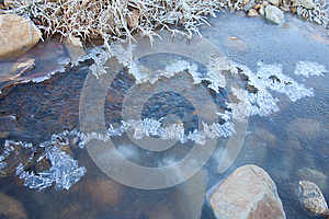 The First Ice. Stock Photos - Image: 26916563