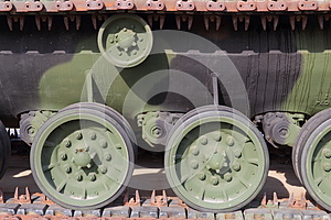 Tank Track Drive Wheels Royalty Free Stock Image - Image: 26924146