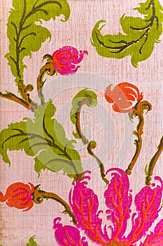 Close Up Of Retro Tapestry Fabric Royalty Free Stock Photography - Image: 26964557