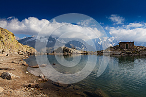 Alpine Lake Reflection In The French Alps Royalty Free Stock Photos - Image: 26984568