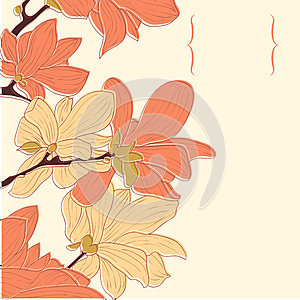 Vector Floral Border Stock Image - Image: 26988101