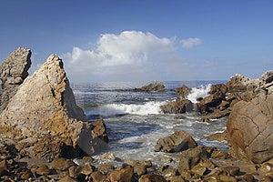 Corona Del Mar Rocks Free Stock Photography