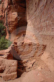 Sinagua Indian Cliff Dwellings Stock Photography