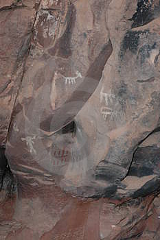 Sinugua Indian Cave Art Free Stock Photo