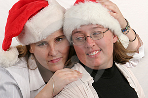 Santa Sisters 1 Free Stock Images