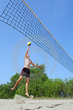 Very Tall Teenager Jumps Stock Photos - Image: 2700353