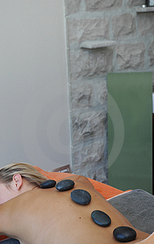 Hot stones massage Free Stock Image