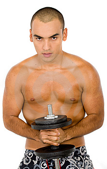 Man Lifting Weights Royalty Free Stock Photography - Image: 2708447