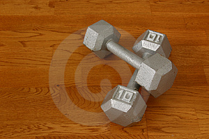 Ten Pound Dumbells I Royalty Free Stock Images