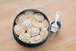 Decorated Sweet Roll Cake Stock Photos - Image: 27001433