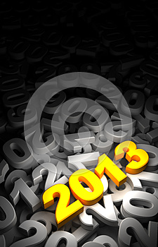 Old Years And 2013 Royalty Free Stock Photo - Image: 27017145