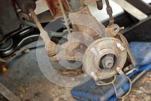 Wheel Stripped Down Ready For New Disc Brake. Royalty Free Stock Photos - Image: 27020068