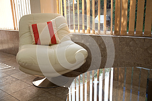 White Relaxing  Chair Stock Images - Image: 27030694
