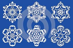 Decorative Vector Snowflakes Set 2 Royalty Free Stock Image - Image: 27031686