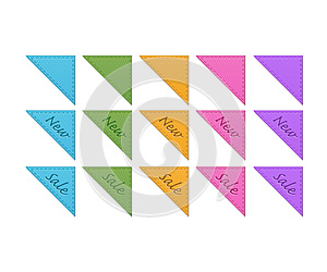 Collection Of Retro Corner Ribbons Royalty Free Stock Image - Image: 27072196