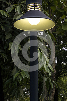 Lighting In Park Royalty Free Stock Images - Image: 27074239