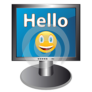 Hello With Smile Royalty Free Stock Photography - Image: 27075257