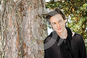Teenager And Tree Royalty Free Stock Photos - Image: 27078378