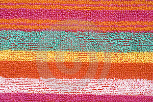 Colorful fabric texture Stock Photo