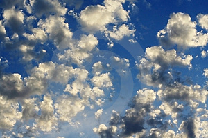 Blue clouds Royalty Free Stock Photos