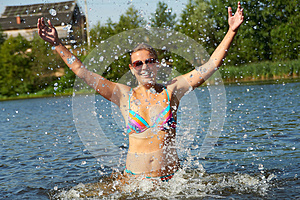 Summer And Splashes Stock Photos - Image: 27105703