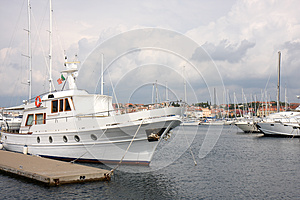 Launch At The Mooring Royalty Free Stock Photo - Image: 27124785