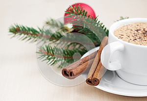 Christmas Cappuccino Stock Photography - Image: 27181992